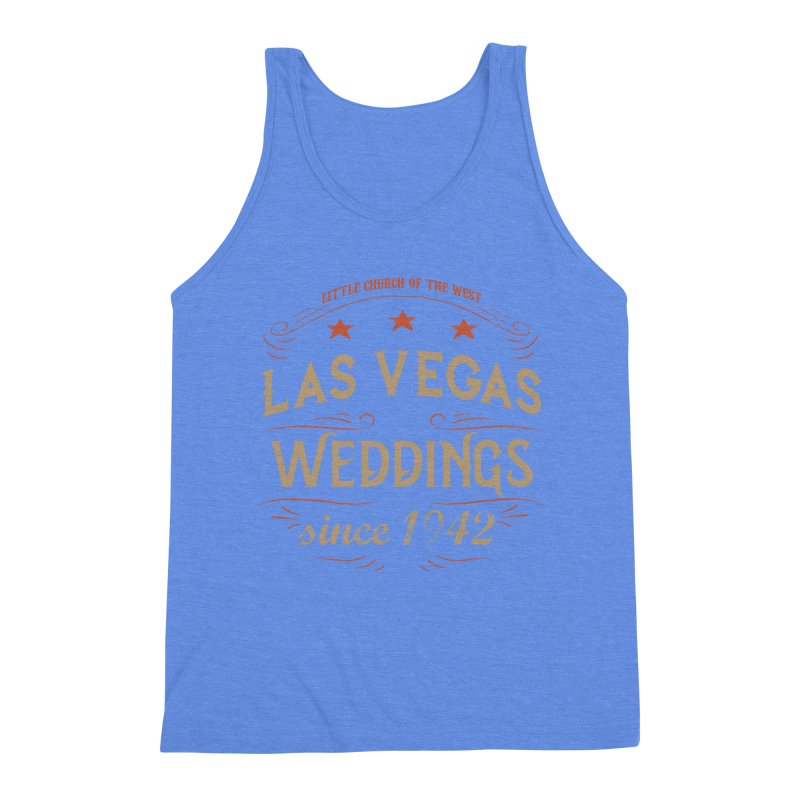 Retro 1942 Men's Triblend Tank by Little Church of the West's Artist Shop