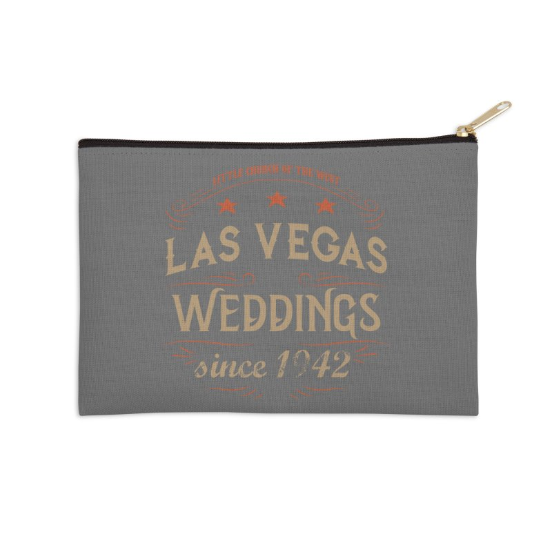 Retro 1942 Accessories Zip Pouch by Little Church of the West's Artist Shop