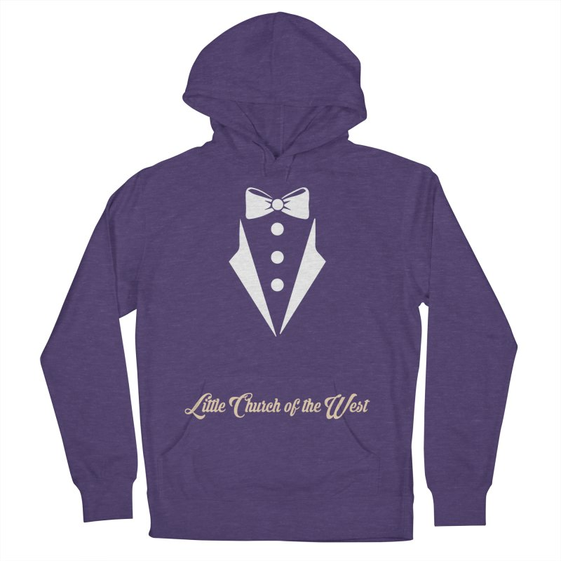Tuxedo T Women's French Terry Pullover Hoody by Little Church of the West's Artist Shop