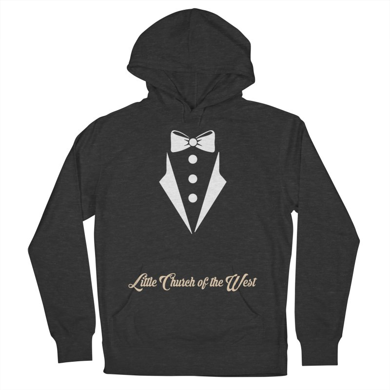 Tuxedo T Men's French Terry Pullover Hoody by Little Church of the West's Artist Shop