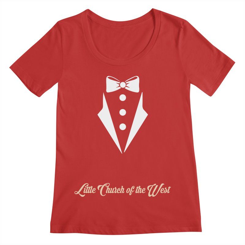 Tuxedo T Women's Regular Scoop Neck by Little Church of the West's Artist Shop