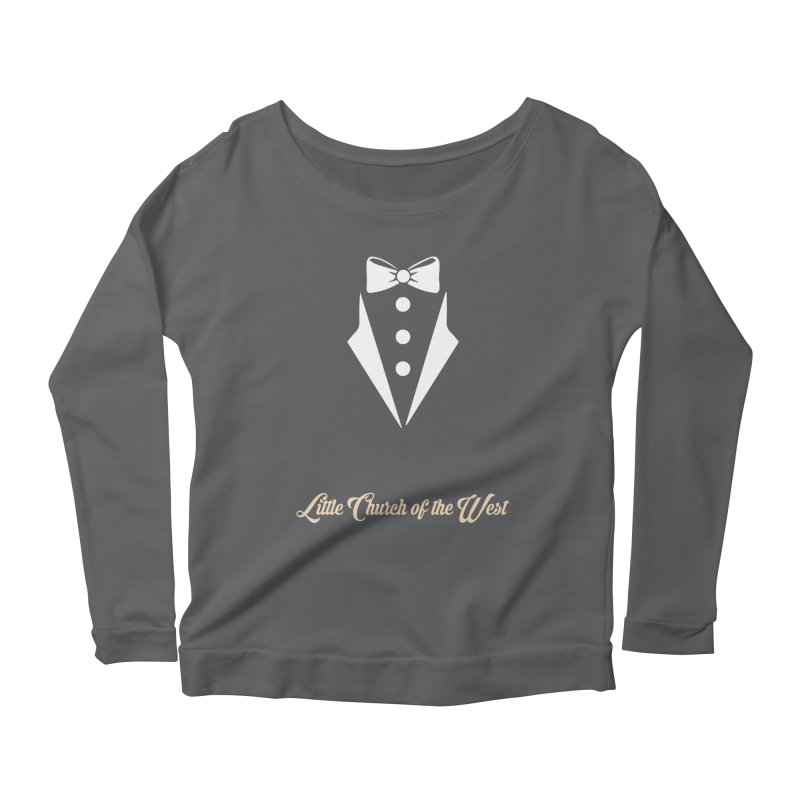 Tuxedo T Women's Scoop Neck Longsleeve T-Shirt by Little Church of the West's Artist Shop