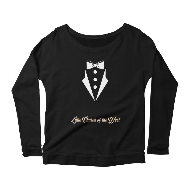 Tuxedo T Women's Scoop Neck Longsleeve T-Shirt by Little Church of the West's Artist Shop
