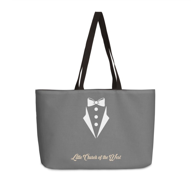 Tuxedo T Accessories Weekender Bag Bag by Little Church of the West's Artist Shop