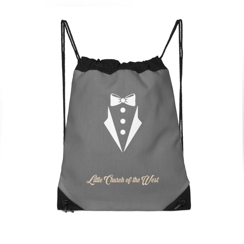 Tuxedo T Accessories Drawstring Bag Bag by Little Church of the West's Artist Shop