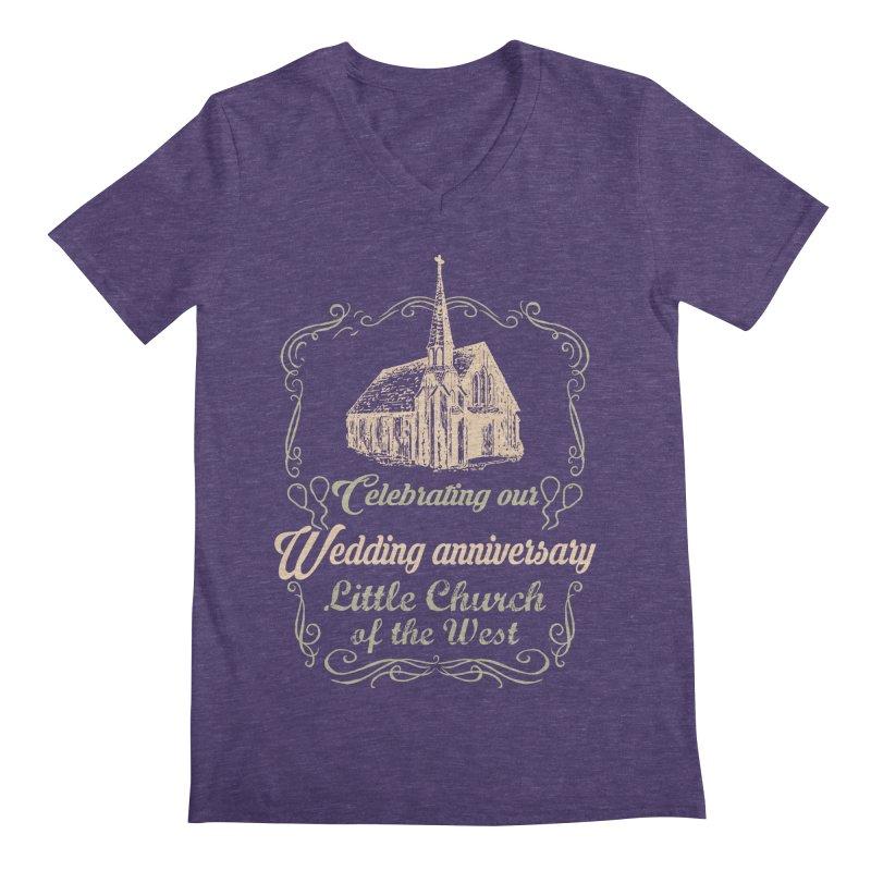Anniversary Celebration Men's Regular V-Neck by Little Church of the West's Artist Shop