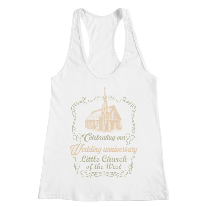 Anniversary Celebration Women's Racerback Tank by Little Church of the West's Artist Shop