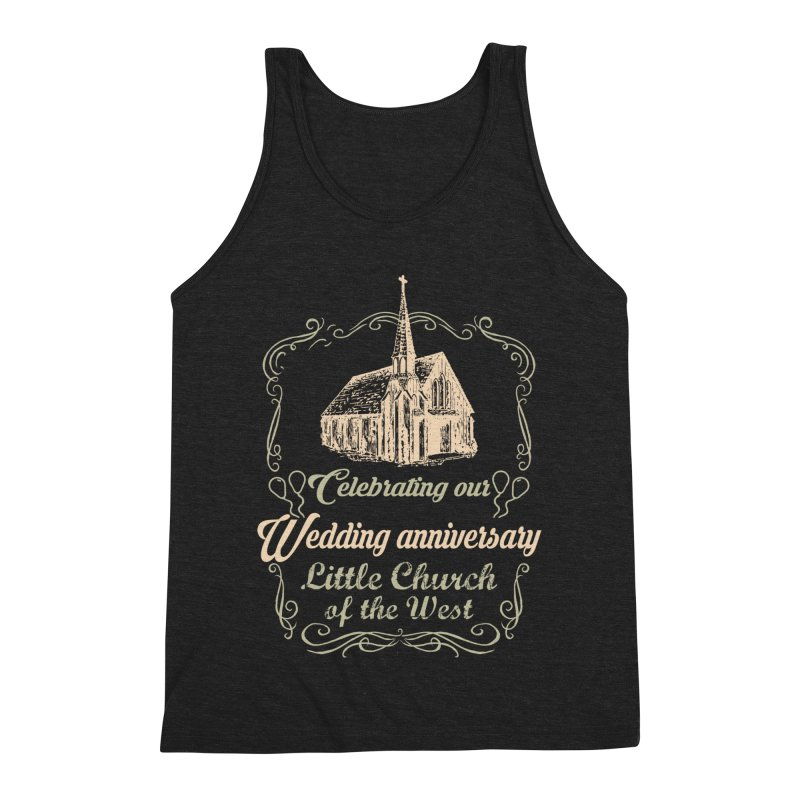 Anniversary Celebration Men's Triblend Tank by Little Church of the West's Artist Shop