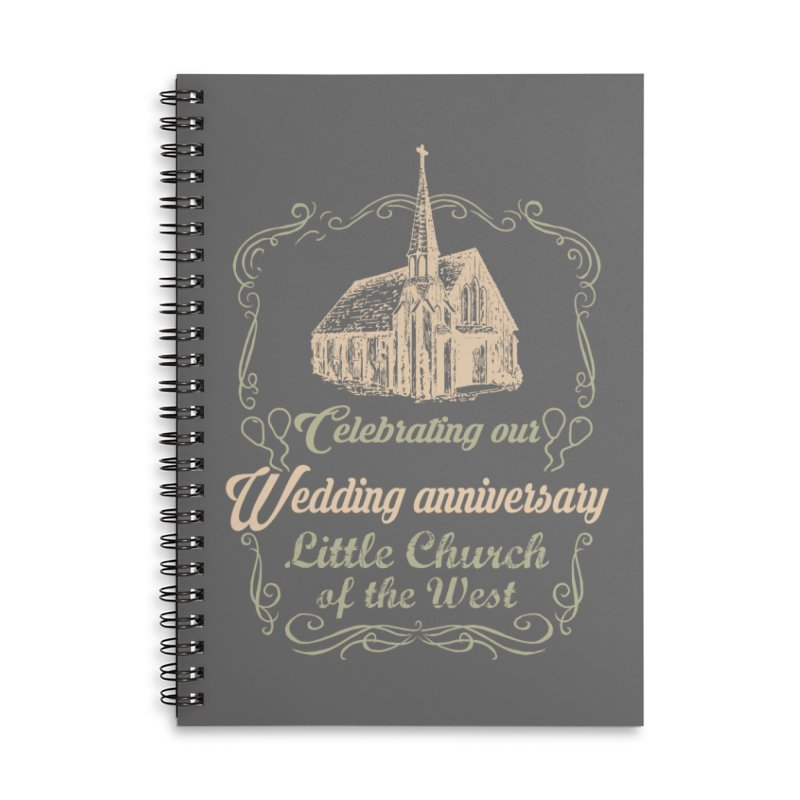 Anniversary Celebration Accessories Lined Spiral Notebook by Little Church of the West's Artist Shop