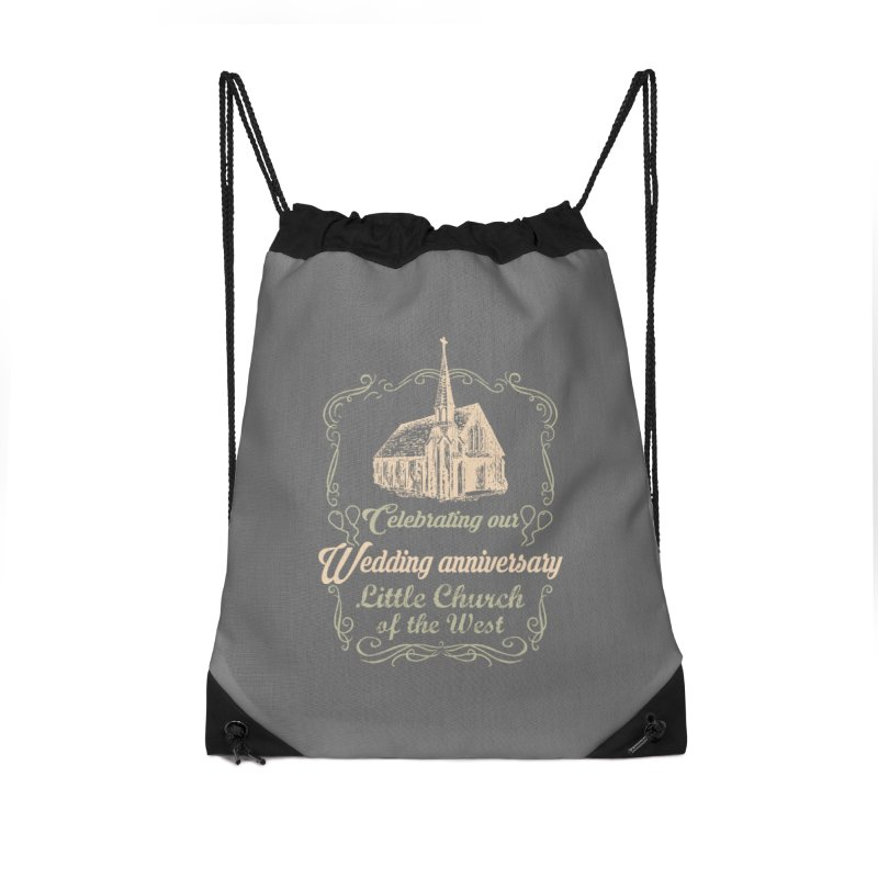 Anniversary Celebration Accessories Drawstring Bag Bag by Little Church of the West's Artist Shop