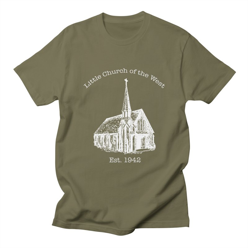 Chapel Men's Regular T-Shirt by Little Church of the West's Artist Shop