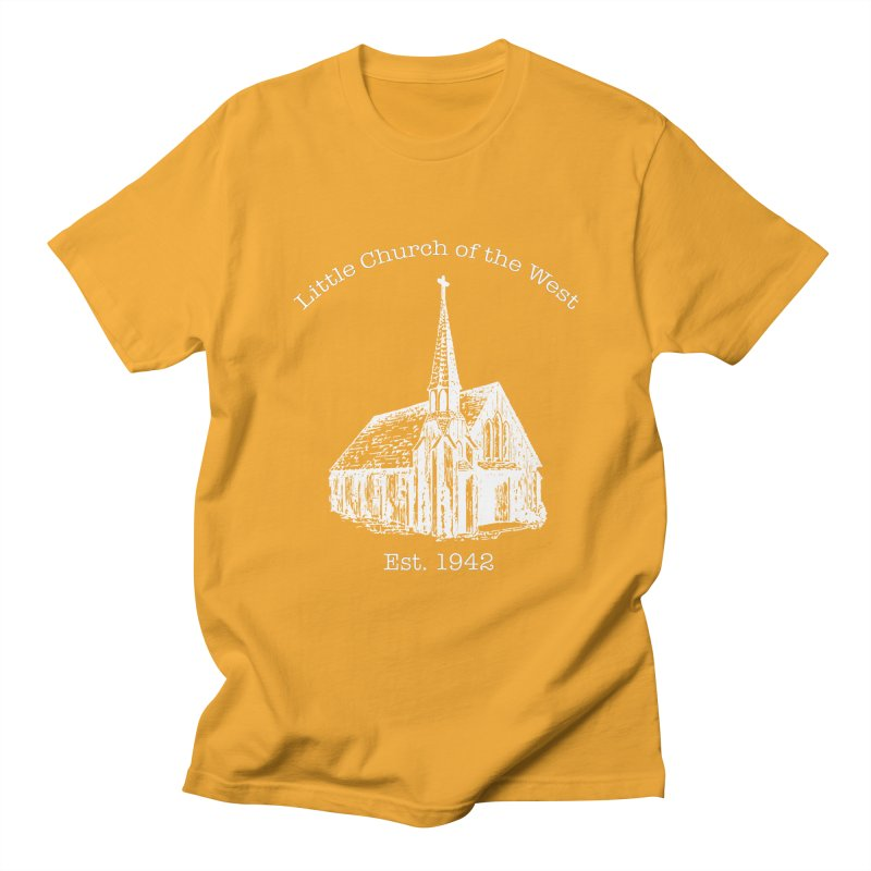Chapel Men's Regular T-Shirt by Little Church of the West's Artist Shop