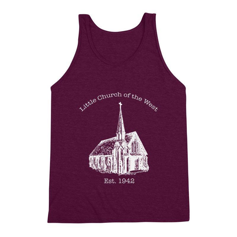 Chapel Men's Triblend Tank by Little Church of the West's Artist Shop
