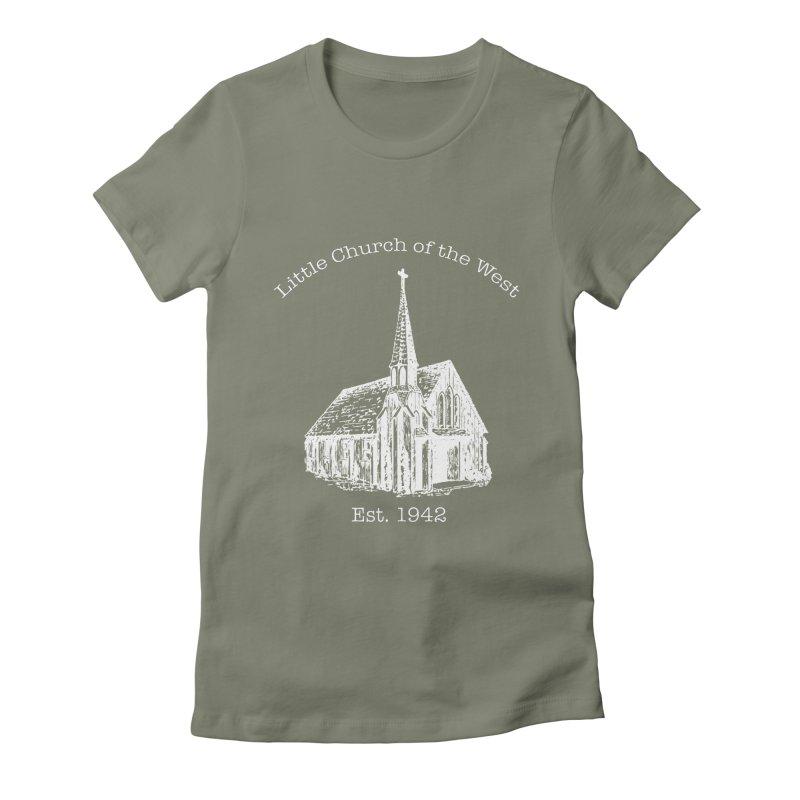 Chapel Women's Fitted T-Shirt by Little Church of the West's Artist Shop