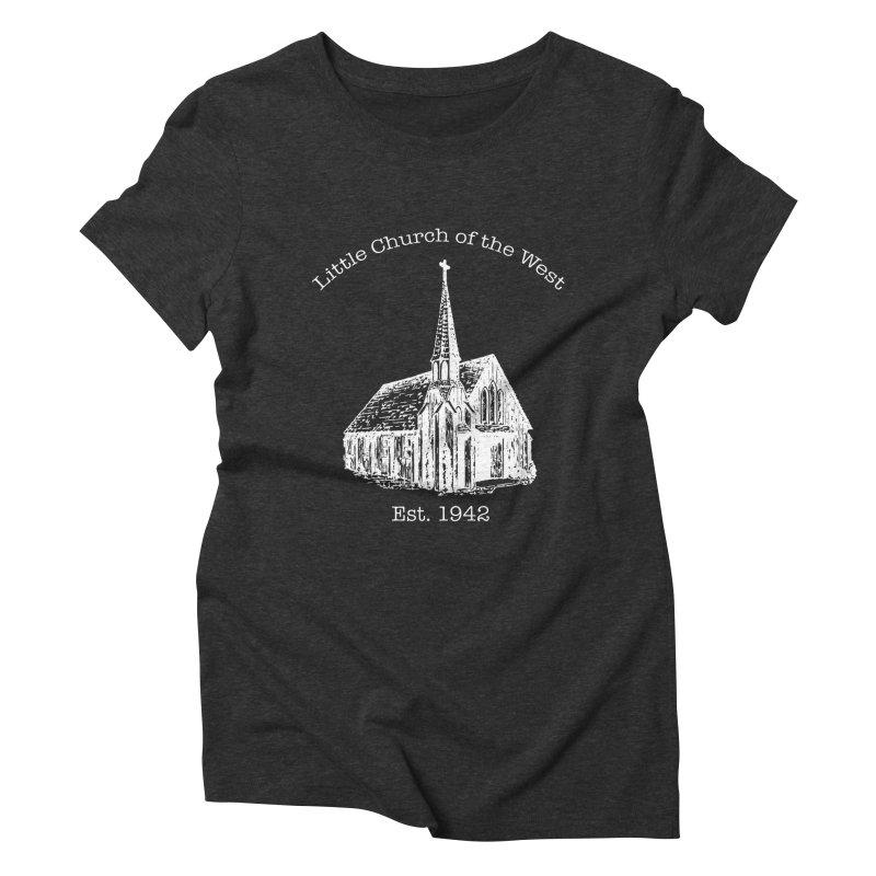 Chapel Women's Triblend T-Shirt by Little Church of the West's Artist Shop