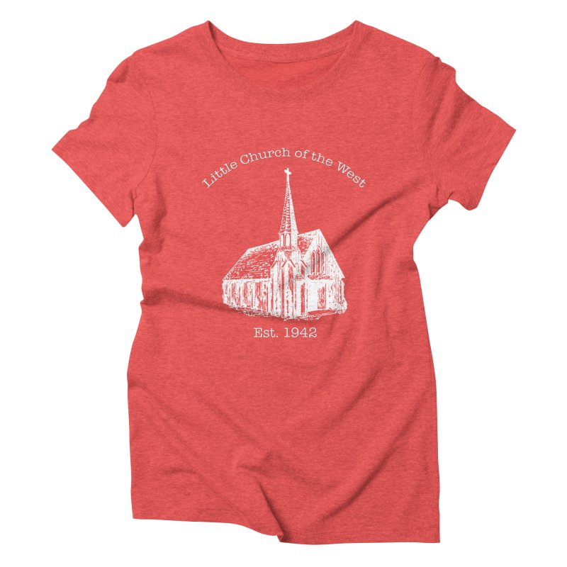 Chapel Women's Triblend T-Shirt by Little Church of the West's Artist Shop