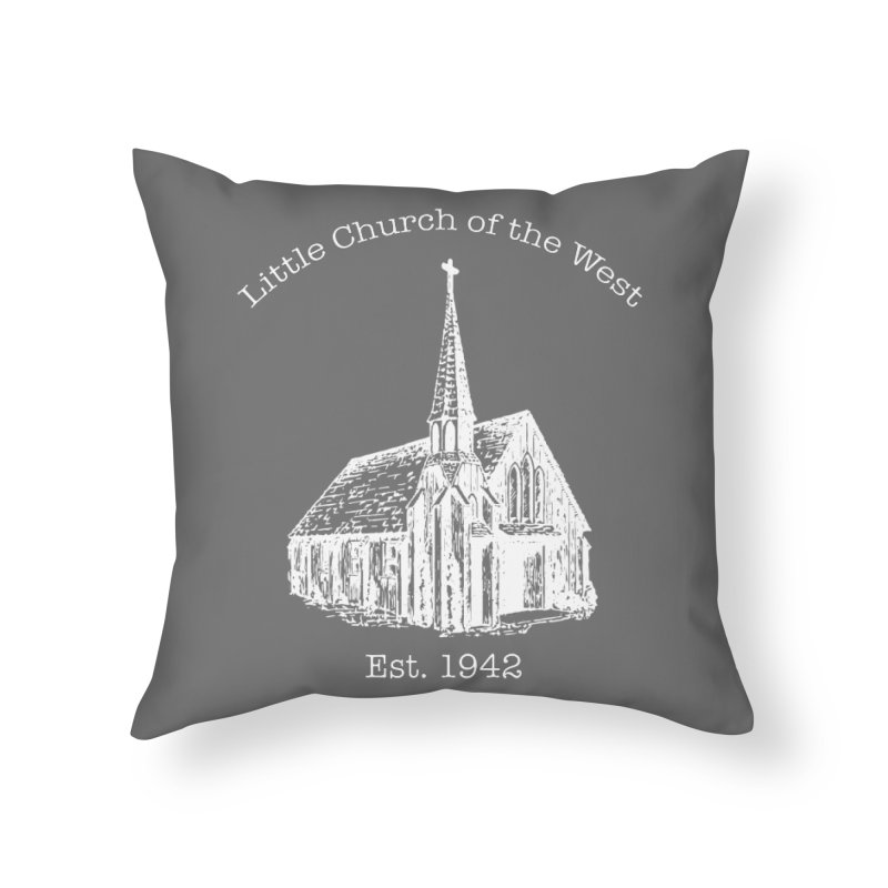 Chapel Home Throw Pillow by Little Church of the West's Artist Shop