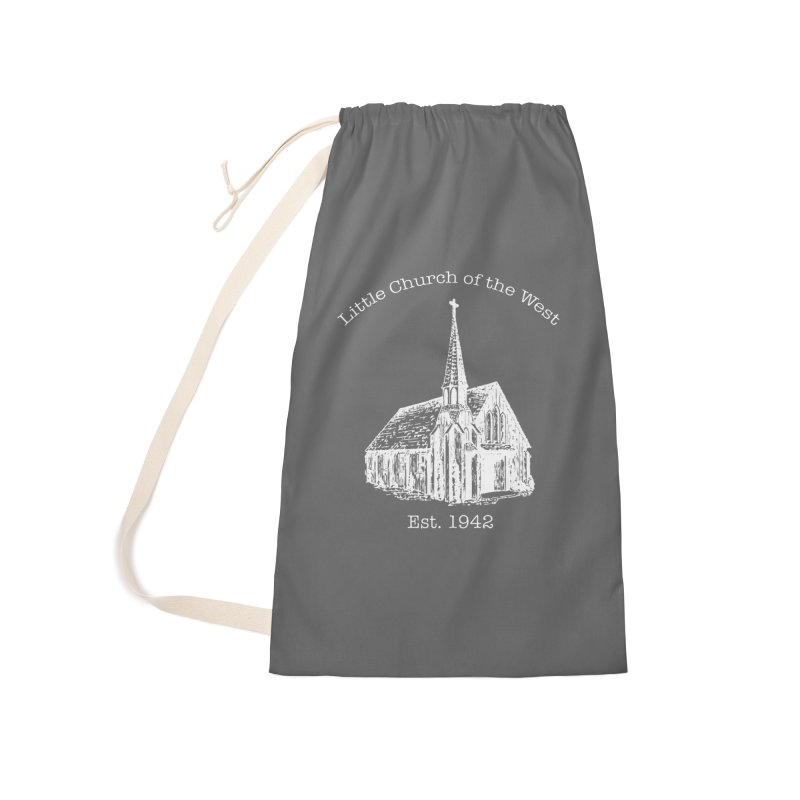 Chapel Accessories Laundry Bag Bag by Little Church of the West's Artist Shop