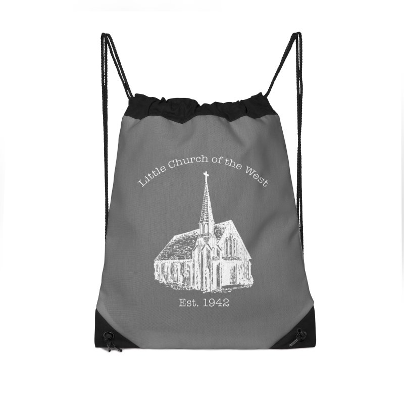Chapel Accessories Drawstring Bag Bag by Little Church of the West's Artist Shop