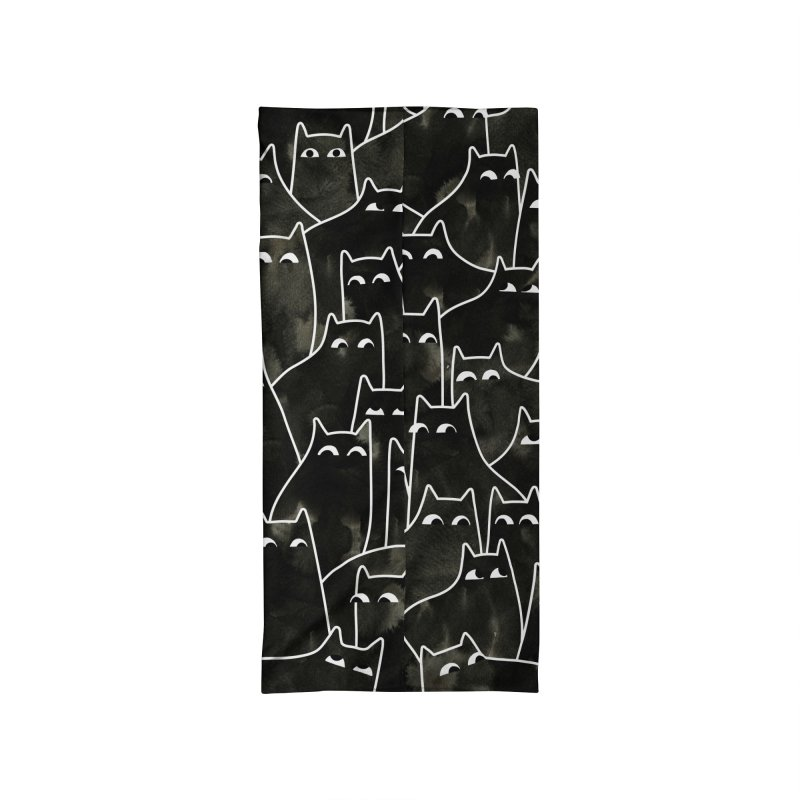 Suspicious Cats Accessories Neck Gaiter by Littleclyde Illustration
