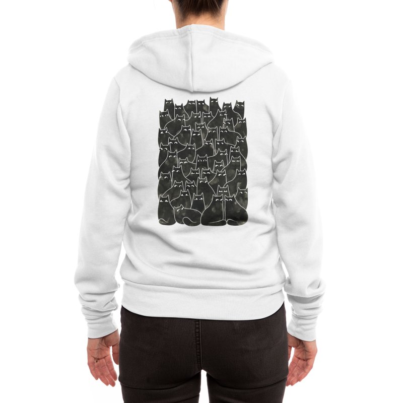 Suspicious Cats Women's Zip-Up Hoody by Littleclyde Illustration