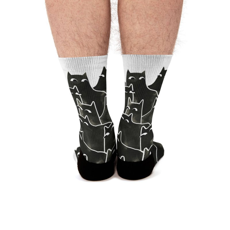 Suspicious Cats Men's Socks by Littleclyde Illustration