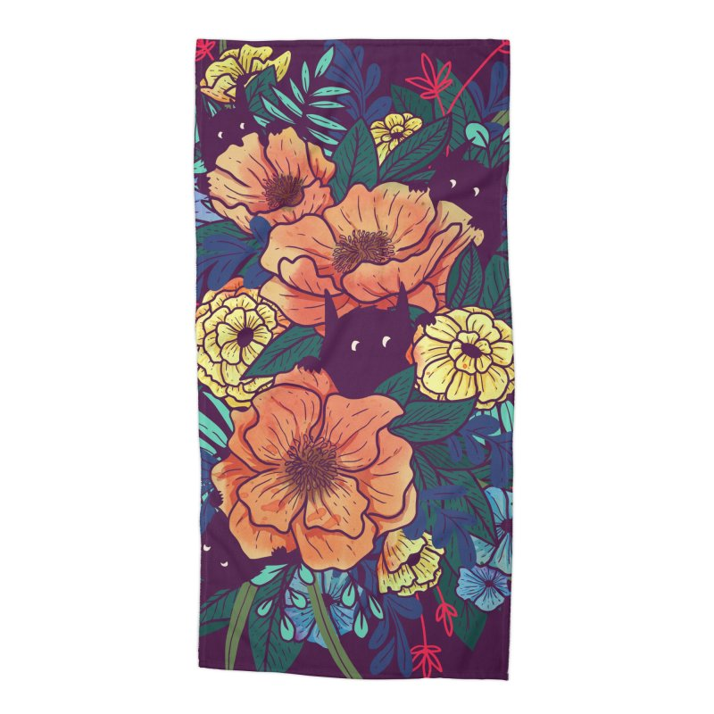 Wild Flowers Accessories Beach Towel by Littleclyde Illustration