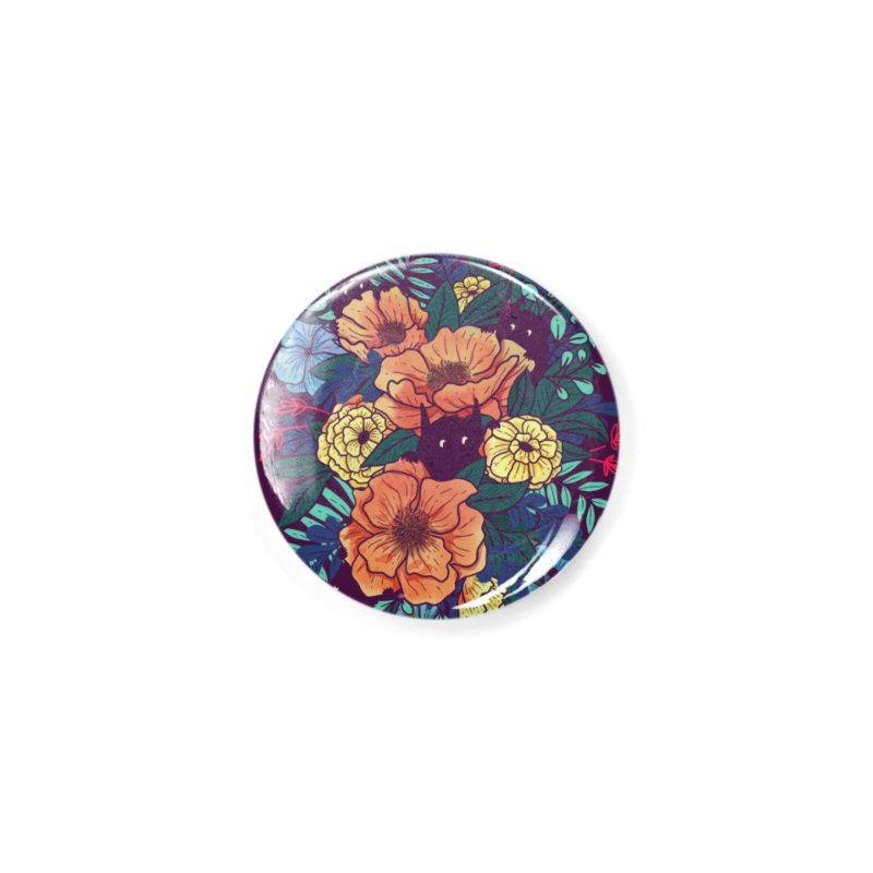 Wild Flowers Accessories Button by Littleclyde Illustration