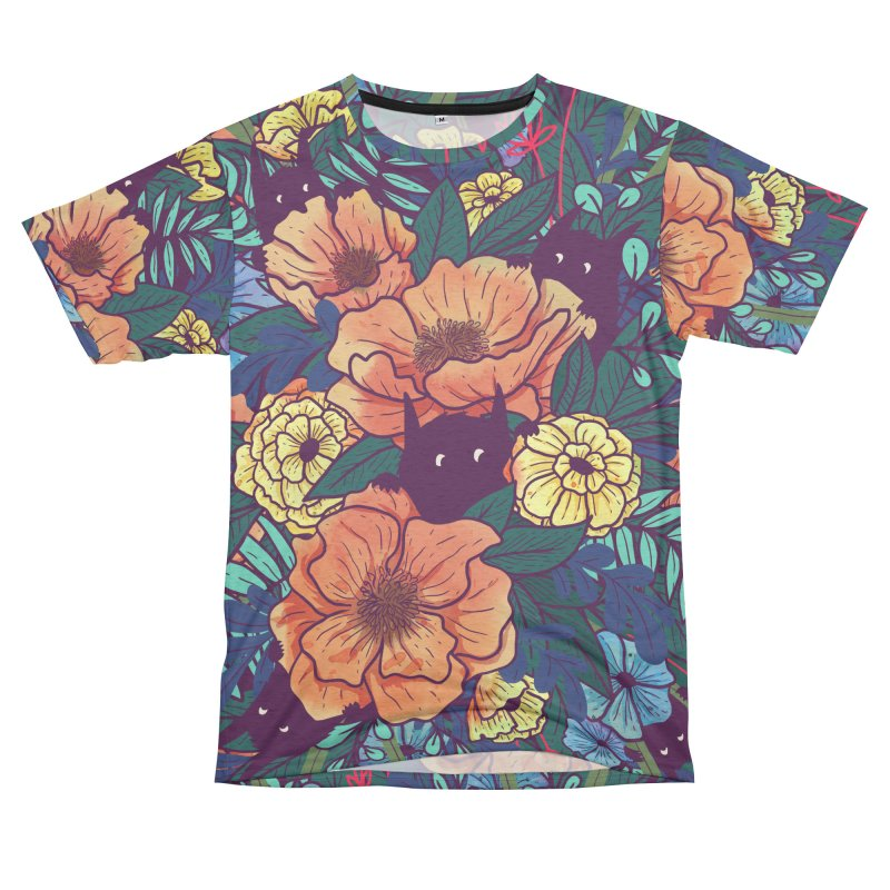 Wild Flowers Men's Cut & Sew by Littleclyde Illustration