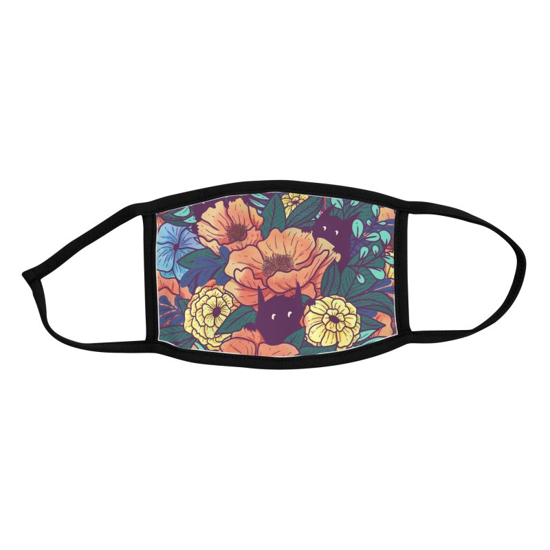 Wild Flowers Accessories Face Mask by Littleclyde Illustration