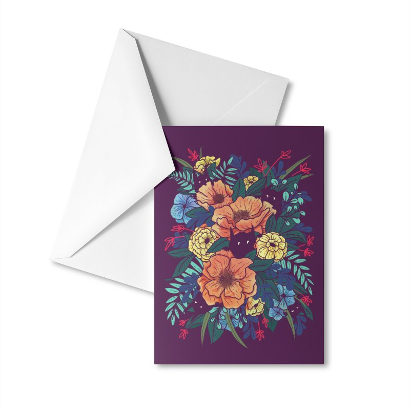 Wild Flowers Accessories Greeting Card by Littleclyde Illustration