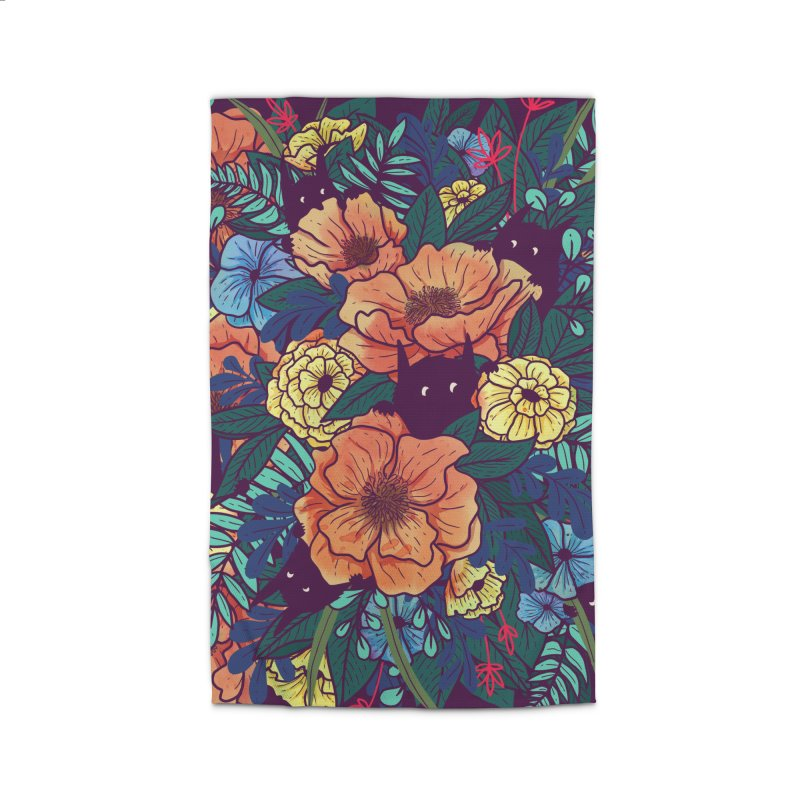 Wild Flowers Home Rug by Littleclyde Illustration