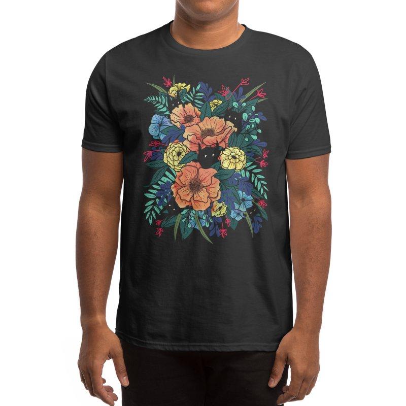 Wild Flowers Men's T-Shirt by Littleclyde Illustration