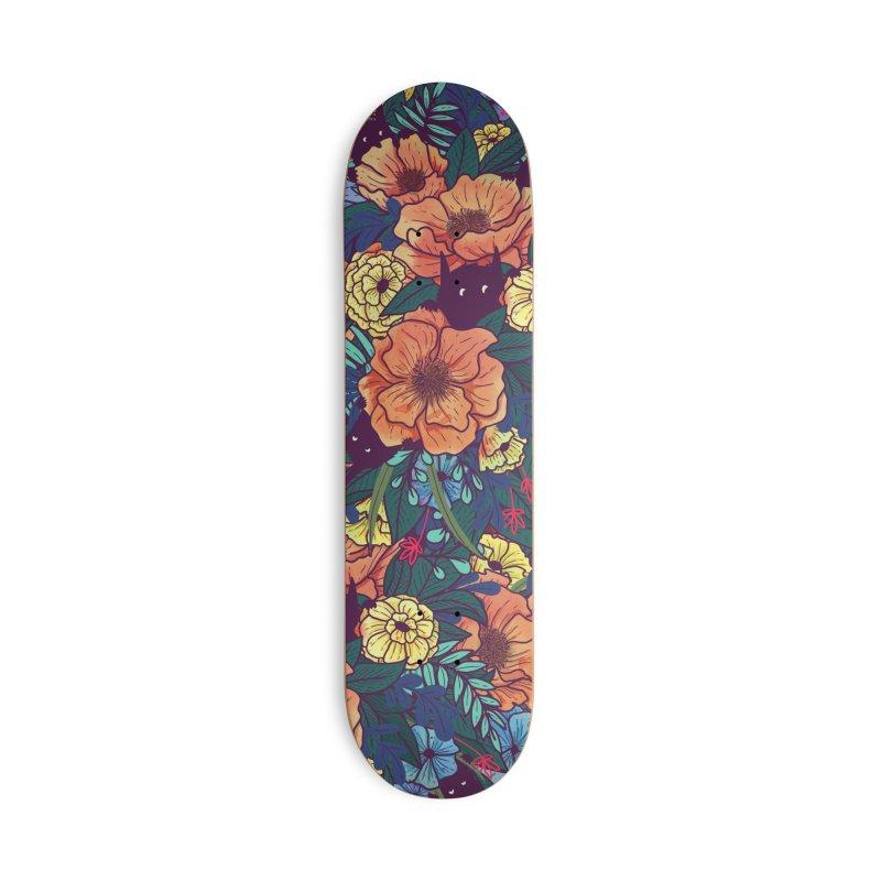 Wild Flowers Accessories Skateboard by Littleclyde Illustration