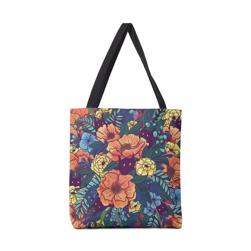 Wild Flowers Accessories Bag by Littleclyde Illustration