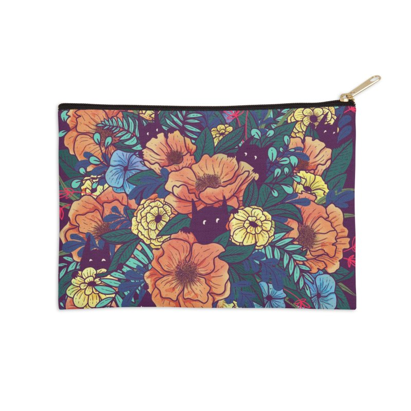 Wild Flowers Accessories Zip Pouch by Littleclyde Illustration