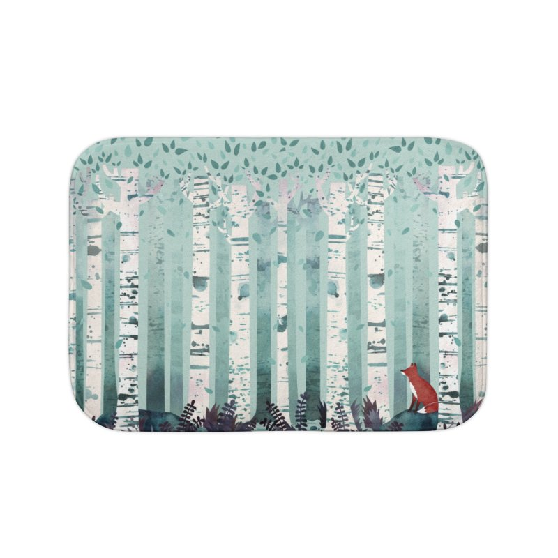 The Birches Home Bath Mat by Littleclyde Illustration