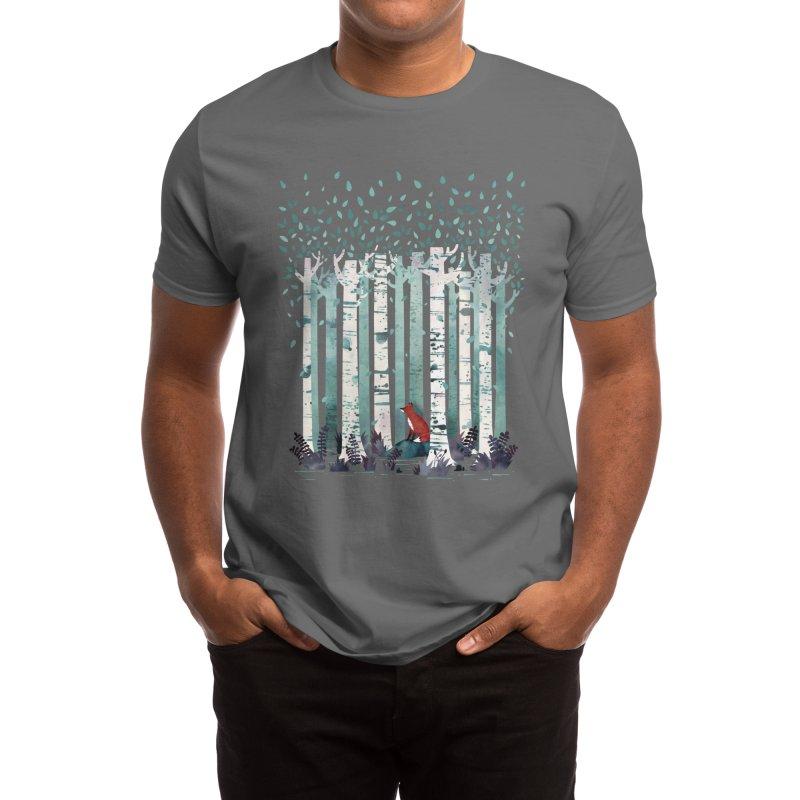 The Birches Men's T-Shirt by Littleclyde Illustration