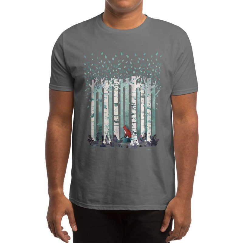 The Birches Men's T-Shirt by Littleclyde Illustration
