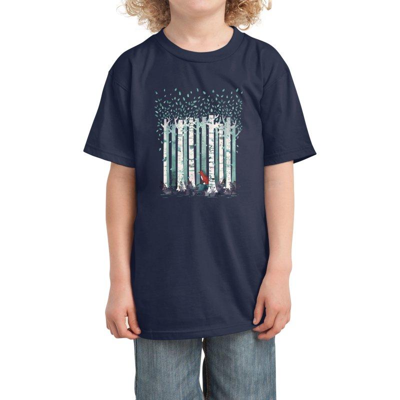The Birches Kids T-Shirt by Littleclyde Illustration