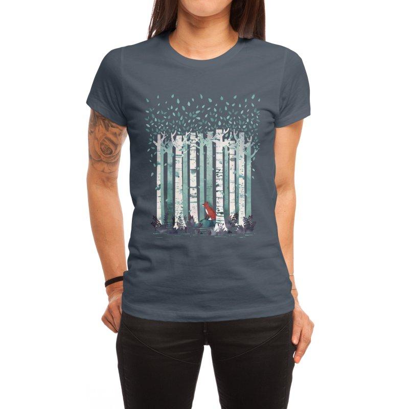 The Birches Women's T-Shirt by Littleclyde Illustration