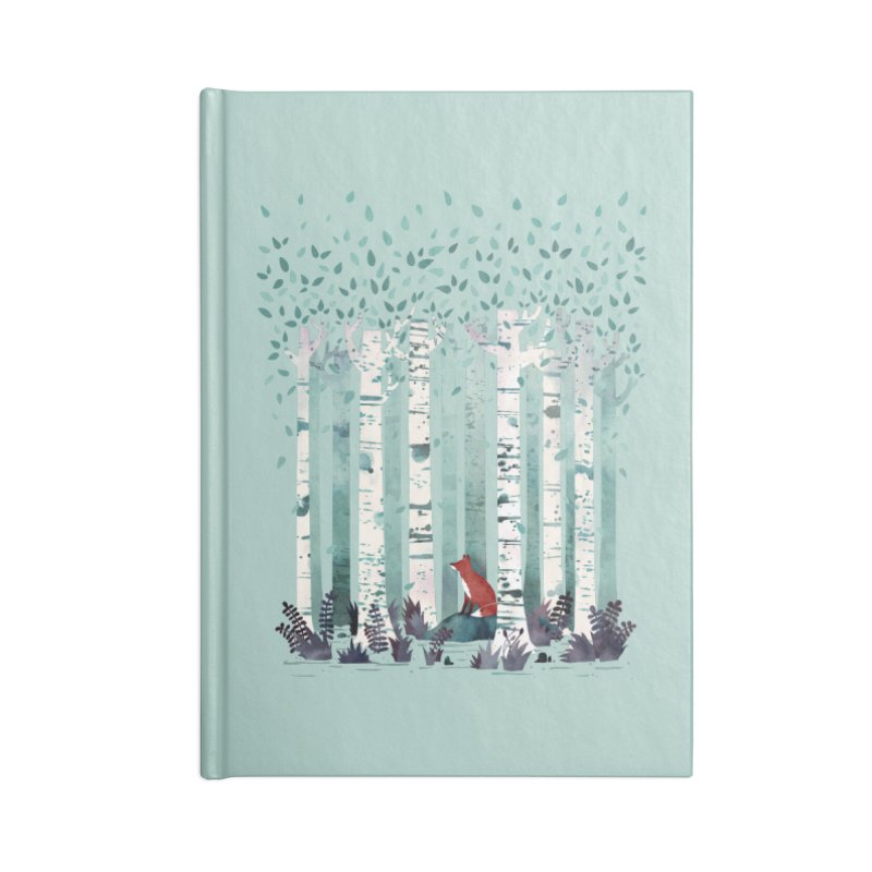 The Birches Accessories Notebook by Littleclyde Illustration