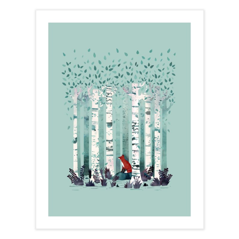 The Birches Home Fine Art Print by Littleclyde Illustration