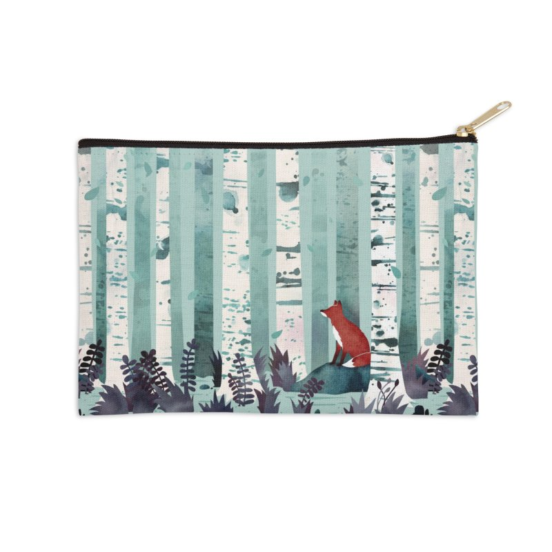 The Birches Accessories Zip Pouch by Littleclyde Illustration
