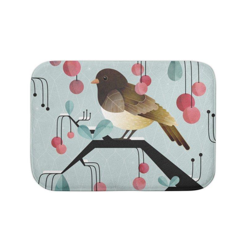 Bird, Watching Home Bath Mat by Littleclyde Illustration