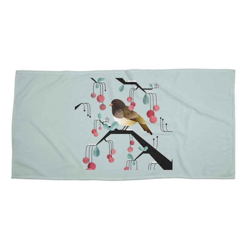 Bird, Watching Accessories Beach Towel by Littleclyde Illustration