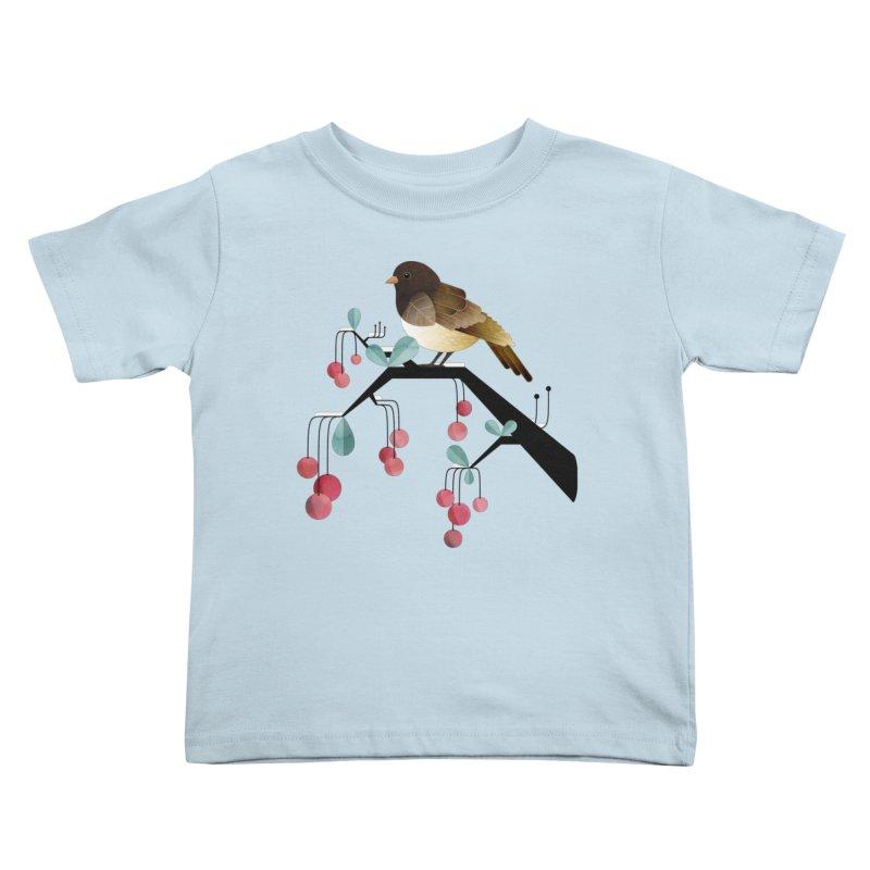 Bird, Watching Kids Toddler T-Shirt by Littleclyde Illustration
