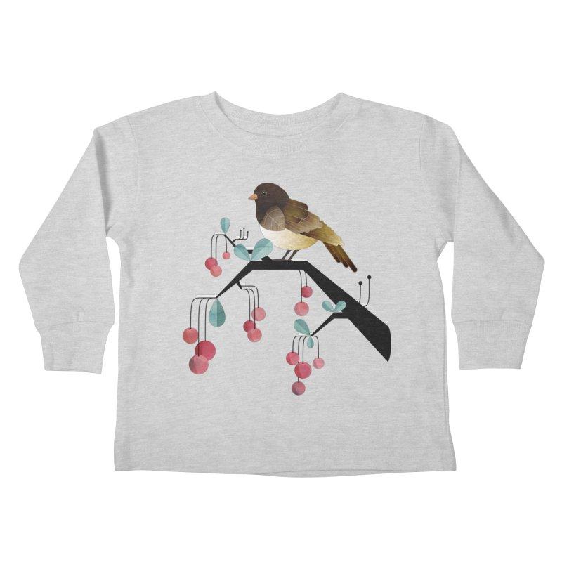 Bird, Watching Kids Toddler Longsleeve T-Shirt by Littleclyde Illustration