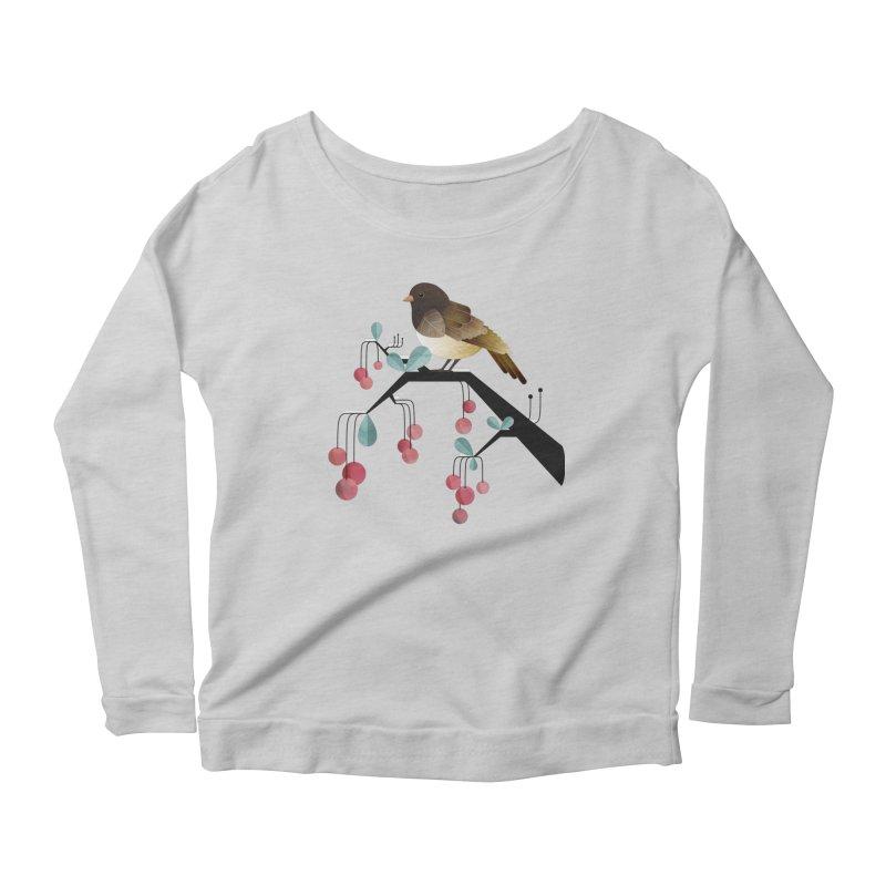 Bird, Watching Women's Longsleeve Scoopneck  by Littleclyde Illustration