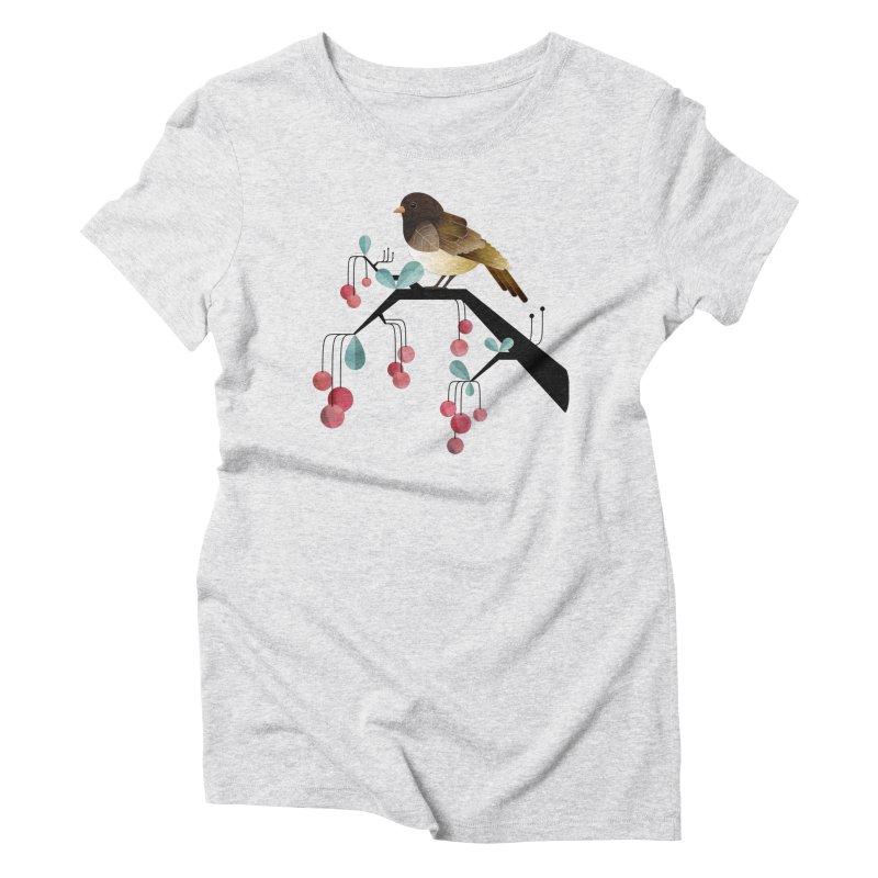 Bird, Watching Women's Triblend T-Shirt by Littleclyde Illustration